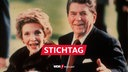First Lady Nancy Reagan mit US-Präsident Ronald Reagan 1986 bei Spaziergang