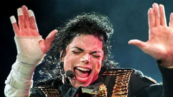 Michael Jackson bei seiner Performance 1993 in Singapore.