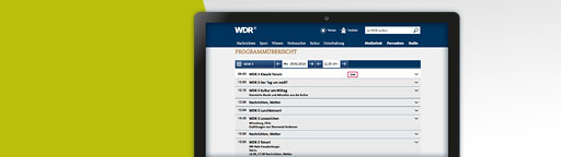 Programmplan WDR 3 - Screenshot