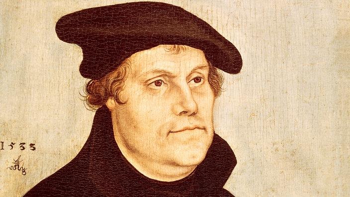 Martin Luther - Porträt von von Lukas Cranach d.Ä. 1533