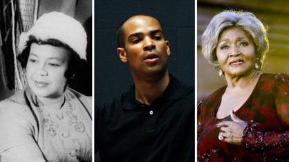 Von rechts nach links: William Grant Still, Joseph Boulonge Chavalier de Saint-Goerges, Samuel Coleridge-Taylor.