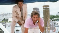 Don Johnson und Philip Michael Thomas in einer Miami Vice-Szene 1986