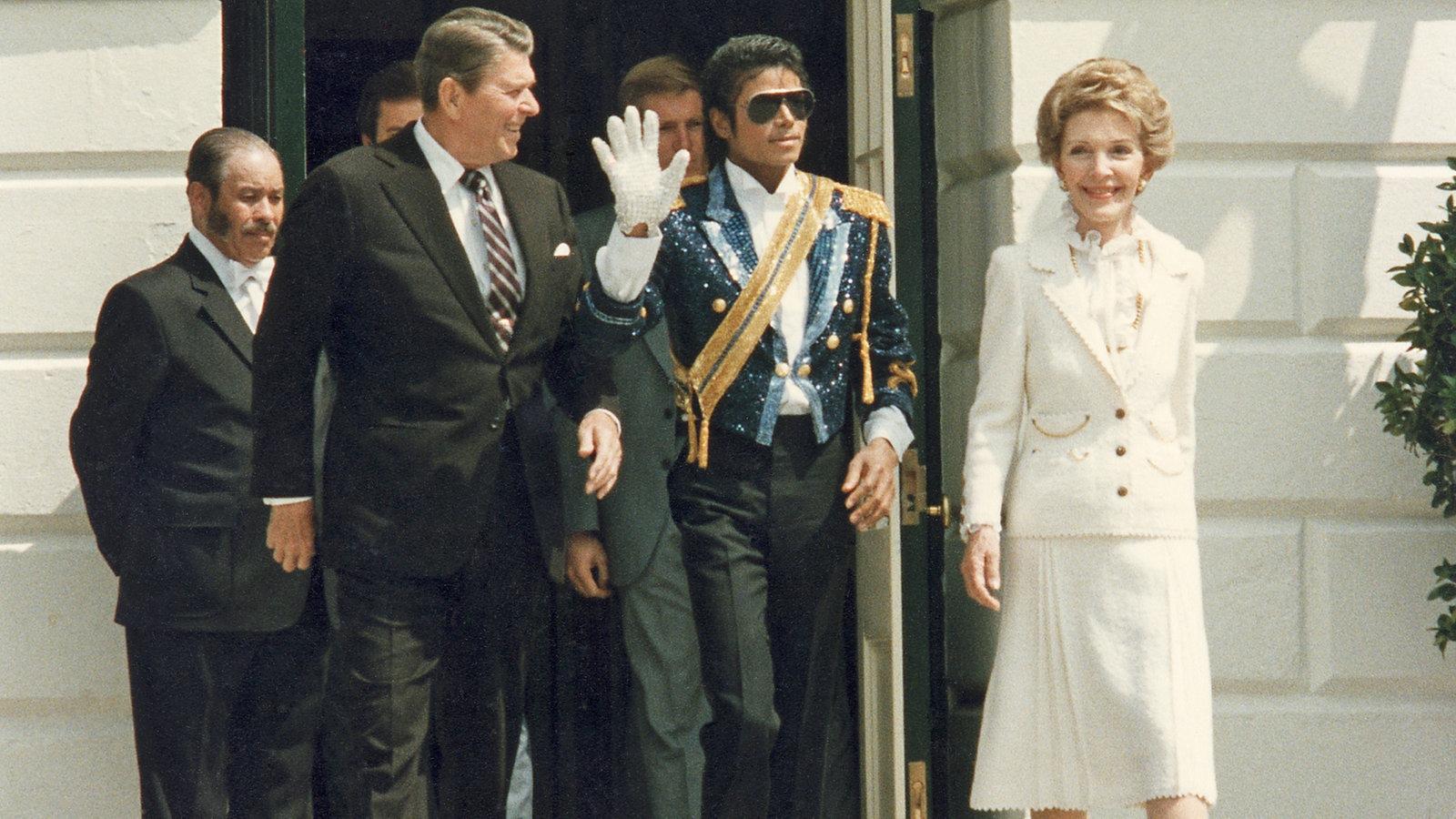 Michael Jackson 1984 bei Roland Reagan