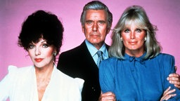 "Joan Collins, John Forsythe und Linda Evans in ""Denver Clan"""