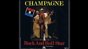 "Plattencover Champagne ""Rock and Roll Star"""