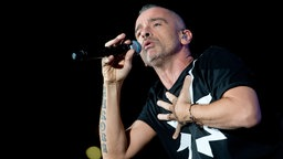Italian singer Eros Ramazzotti during the concert at PalaAlpitour of Turin in november 7, 2015