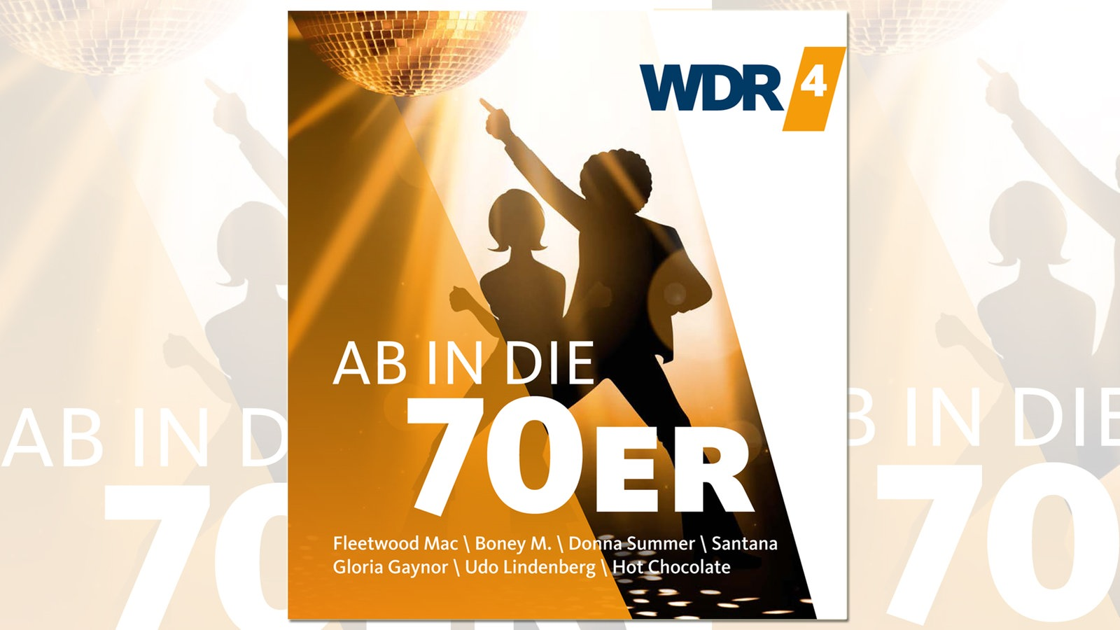 CD Cover der Ab in die 70er! - CD