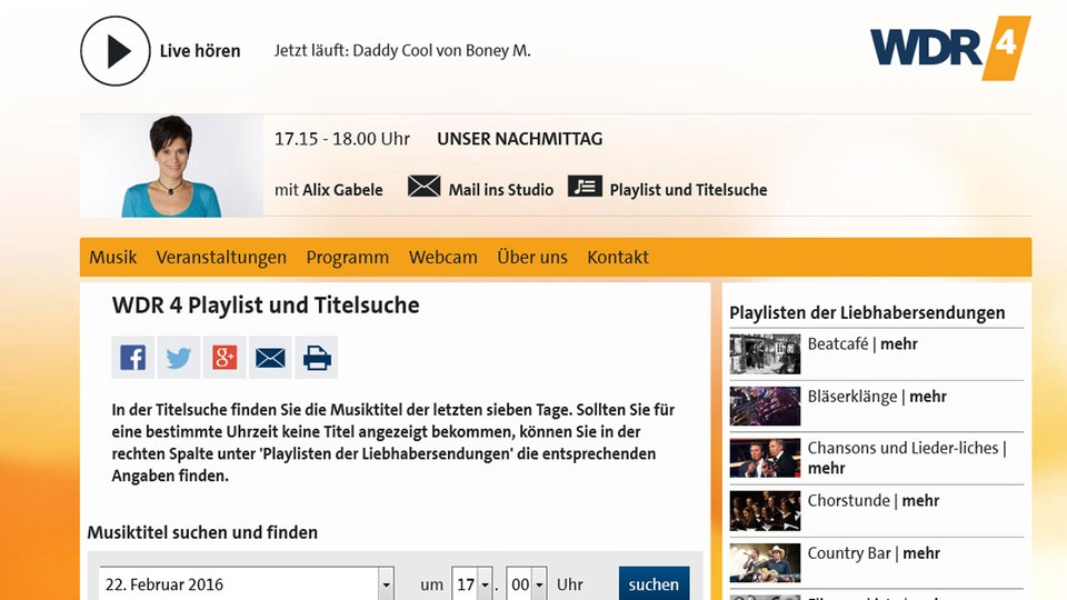 Wdr Playliste
