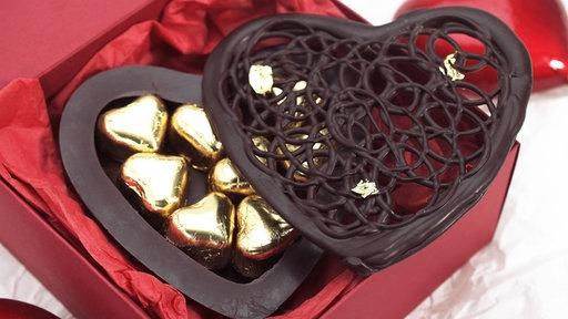 Schokolade Zum Valentinstag .