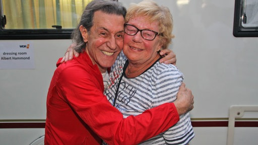 Albert Hammond mit Fan Margit Rublack