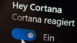 Display der Cortana Einstellungen