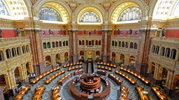 "Blick in den Hauptlesesaal der Kongressbibliothek ""Library of Congress"" in Washington"