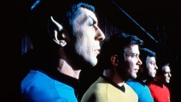 William Shatner, Kelley DeForest, Leonard Nimoy und James Doohan