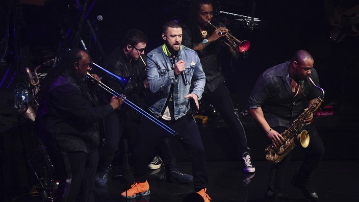 "Justin Timberlake auf der Bühne seiner ""Man of the Woods""-Tour in New York (22.03.2018)"