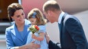 Herzogin Kate, Prinz William und Prinzessin Charlotte am 19. Juli 2017 in Berlin