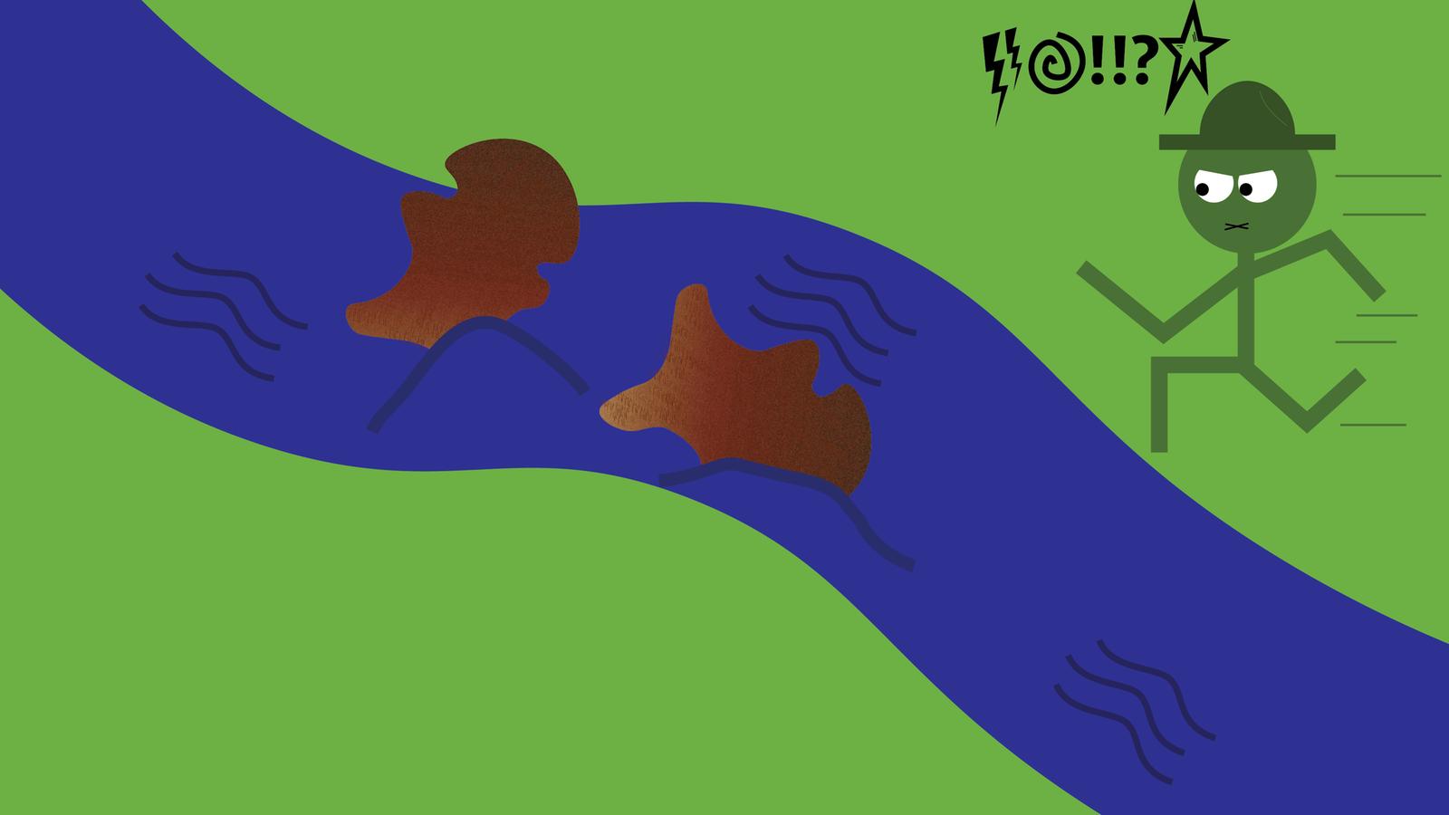 Felle Davonschwimmen