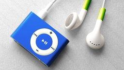 Kopfhörer neben einem mp3-Player