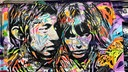 Graffiti von Serge Gainsbourg und Jane Birkin in Paris