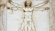 'The Vitruvian Man', 1492. Leonardo da Vinci