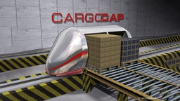 Computeranimation der CargoCap.