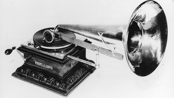 Gramófono Emil Berliner.