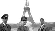 Albert Speer (li), Adolf Hittler (m) und Arno Breker (re) in Paris