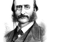 Jacques Offenbach, Holzstich, 1880