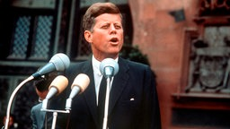 John F. kennedy am 25.6.1963 in Frankfurt