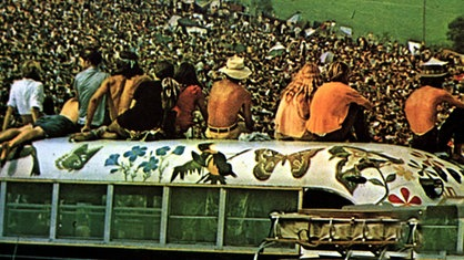 "Szene aus dem Dokumentarfilm ""Woodstock - Three Days Of Love And Music"""