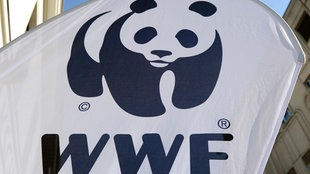 "Logo des ""World Wildlife Fund"" (WWF) mit Panda"