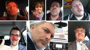 Collage mit Stau-Selfie Aktion NRW