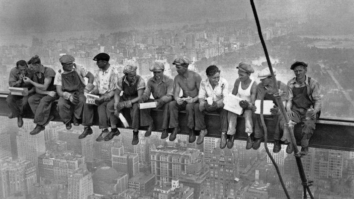 Mittagspause Auf Einem Wolkenkratzer