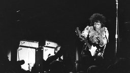 "Monterey, 18.06.1967. Die Band ""The Jimi Hendrix Experience"" beim Montery Pop Festival."