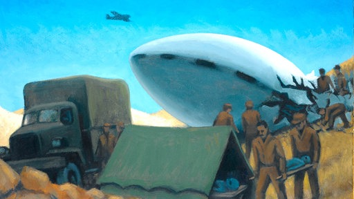 Gemälde der UFO-Funde in New Mexico