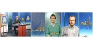 Montage: Moderatoren der WDR-Landesstudios Münster, Düsseldorf und Dortmund in den 1980er Jahre
