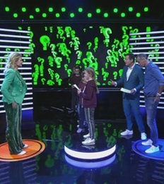 Franziska van Almsick, Kind und Henry Maske bei Fragenhagel; Rechte: WDR