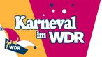 """Der Schriftzug """"Karneval im WDR"""", daneben ist eine Karnevalsmütze mit dem Schriftzug """"Jeck auf WDR"""""""