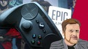 Montage: Illustration Thomas Ruscher, Spielekonsole, Schild EPIC
