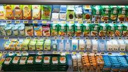 Das Bild zeigt verschiedene Veggie-Produkte im Supermarkt.
