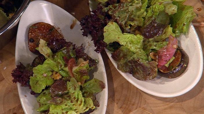 Winterlicher Blattsalat Mit Karamellisierten Feigen Rezepte