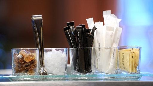 Verschiedene Zuckersorten, Theke