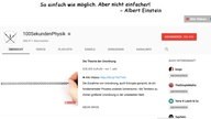 "Screenshot des Youtube-Tutorials ""100SekundenPhysik"""