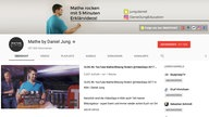 "Screenshot des Youtube-Tutorials ""Mathe by Daniel Jung"""